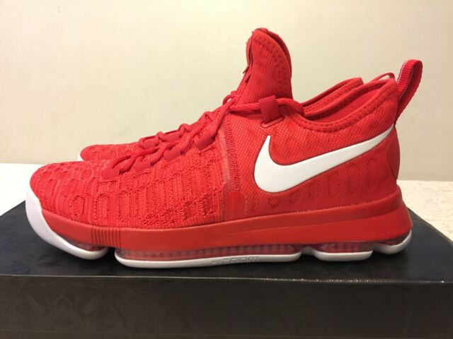 Nike Zoom KD 9 Basketball Shoes University RedWhite