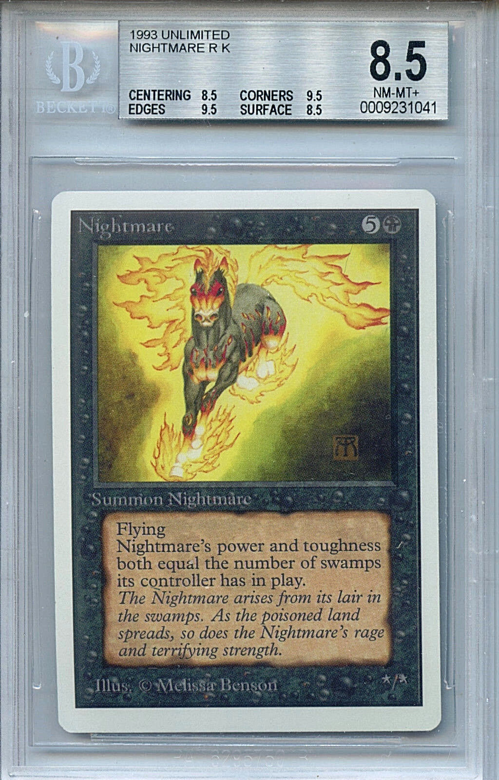 MTG Unlimited Nightmare BGS 8.5 NM MT+ Card Magic Magic Magic the Gathering WOTC 5ee1bf