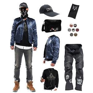 Watch Dogs 2 Marcus Holloway S Jacket Coat Sweatshirt Jeans Cap