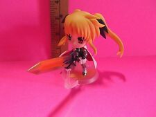 "Lyrical Nanoha 3.5""in Big Head Fate T Harlaown Figure Holding Big Sword"
