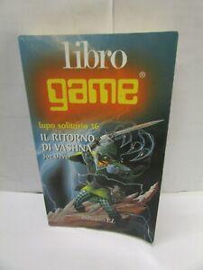 LIBRO GAME LUPO SOLITARIO 16: il ritorno di vashna - el,1999 - vedi foto - sc3 -