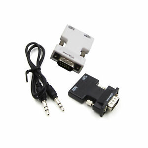 Hot-HDMI-Female-to-VGA-Male-Converter-Audio-Cable-1080P-Signal-Output-New