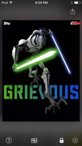 Topps Star Wars Digital Card Trader Clone Wars Warriors Grievous Insert Award