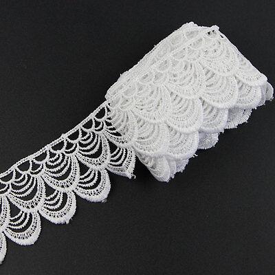 3 Yards Vintage White Lace Edge Trim Bridal Wedding Ribbon Sewing Craft DIY