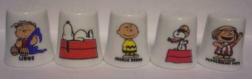 Super Nice Lot of 10 Charlie-Brown /& Friends Porcelain Thimble Set