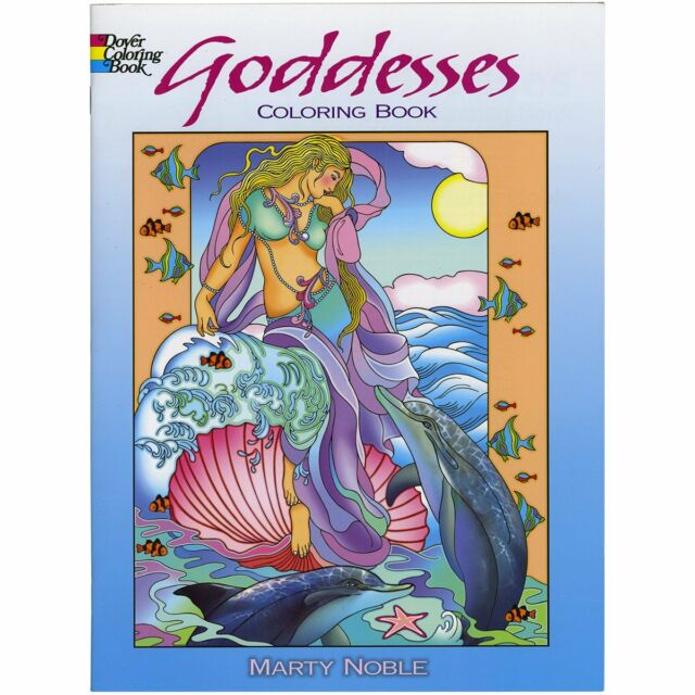Goddesses Adult Colouring Book Creative Art Therapy Relaxing Ancient Culture