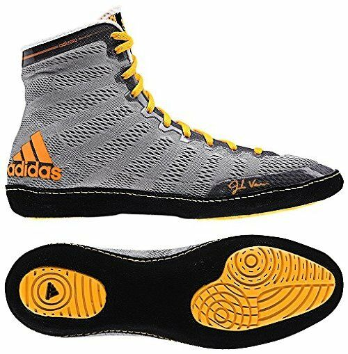new concept 5f9a1 702ad adidas Ussh16030614391 Adizero Varner High Top Wrestling Shoes - 12 D(m) US  Grey Black Gold for sale online   eBay