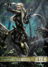 3x Elf Warrior #1 Custom Altered Tokens MTG Magic Origins