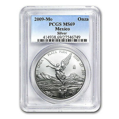 2009 Mexico 1 oz Silver Libertad MS-69 PCGS - SKU #60733