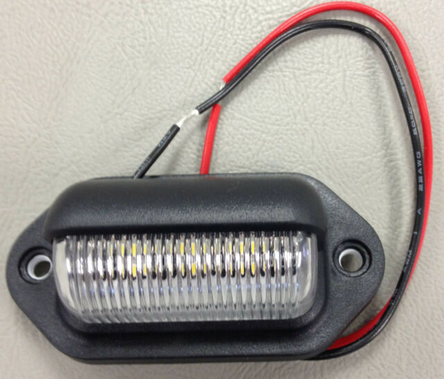 5 LED LICENSE PLATE TAG LIGHT BLACK BOAT TRAILER RV TRUCK INTERIOR STEP LIGHTS