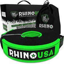 Rhino Usa Recovery Tow Strap 3in X 30ft Heavy Duty 31518lb Break Strength
