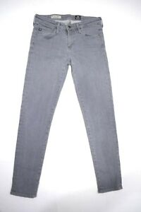 Women-039-s-AG-Adriano-Goldschmied-Stevie-Ankle-Slim-Straight-Jeans-Gray-Grey-27