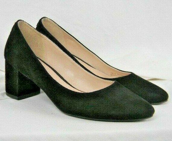 Cole Haan Grand OS scarpe Pump Slide Suede nero Heel donna's Dimensione 7 B
