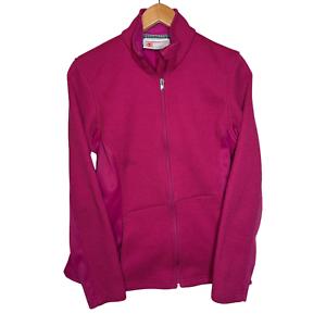 Spyder Core Sweater Fleece Interior Full Zip Mid-Weight Pink Jacket Women's L