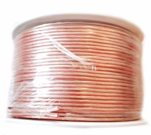 Querschnitt 2 x 0,5 mm² Surga Lautsprecherkabel transparent 100 m Spule