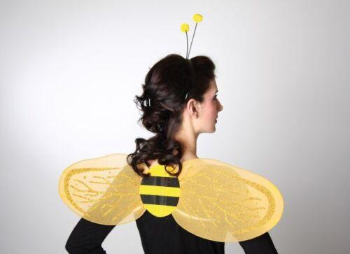Kostüm Zubehör Set Biene Flügel Haarreif Karneval Fasching FM