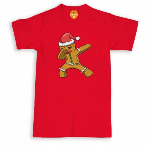 Gingerbread Man Christmas T-Shirt,Santa Dancing Dab Xmas Adults /& Kids Top