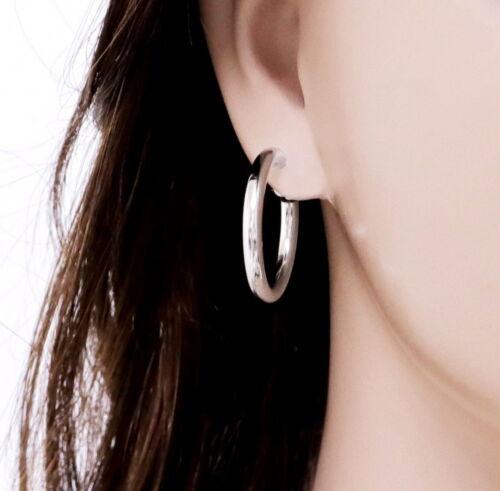 """#E121F 1/"""" Pince à ressort sur épais Hoop non percé Boucles d/'oreilles ressemblent percé 2.5 cm"""