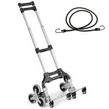 Folding Stair Climbing Cart Portable Hand Truck Utility Dolly With Bungee Cord