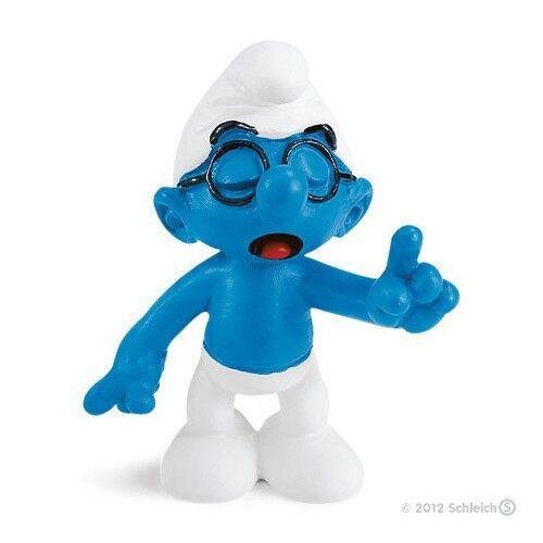 Figurine PVC Peyo Smurfs Les Schtroumpfs Neuf Schtroumpf à lunettes