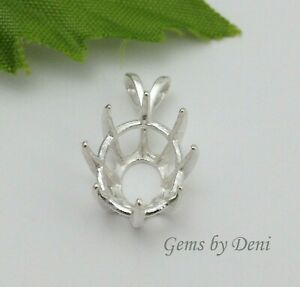 Sterling Silver Oval Deep Cut Pre-Notched Pendant Casting