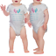 twin arrival gift Cute twins bodysuit or t-shirt set of 2 //twin gift
