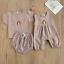 thumbnail 3 - USA Sibling Brother Sister Twin Baby Boy Girl Rainbow Jumpsuit Top Pants Outfits
