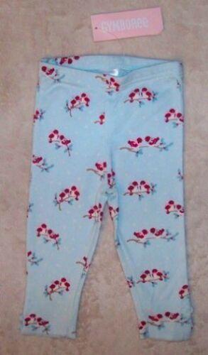 NWT 6-12 M Gymboree SNOW BIRD Lt Blue Print Knit Buttom Hem Leggings