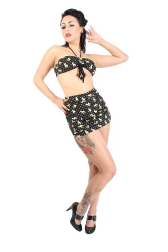 Polka Dots Retrò Rehkitz punti PIN UP ROCKABILLY High Waist furibonda Bikini