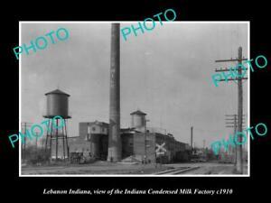 OLD-LARGE-HISTORIC-PHOTO-LEBANON-INDIANA-THE-INDIANA-MILK-FACTORY-c1910