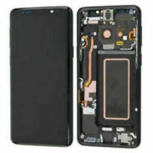 LCD S9 G960F ECRAN LCD VITRE TACTILE SAMSUNG GALAXY AVEC CHASSIS NOIR