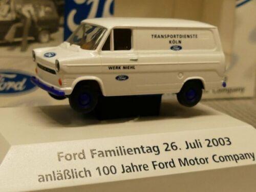 1//87 Brekina Ford Transit Transportdienste Ford Köln Niehl
