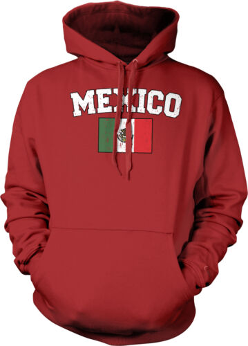 Mexican Nationality Futbol Hoodie Pullover Mexico Soccer Flag Distressed