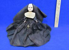 Vintage Marcie Nun Doll Sleepy Eye Hard Plastic Blue Heart Spring Stand