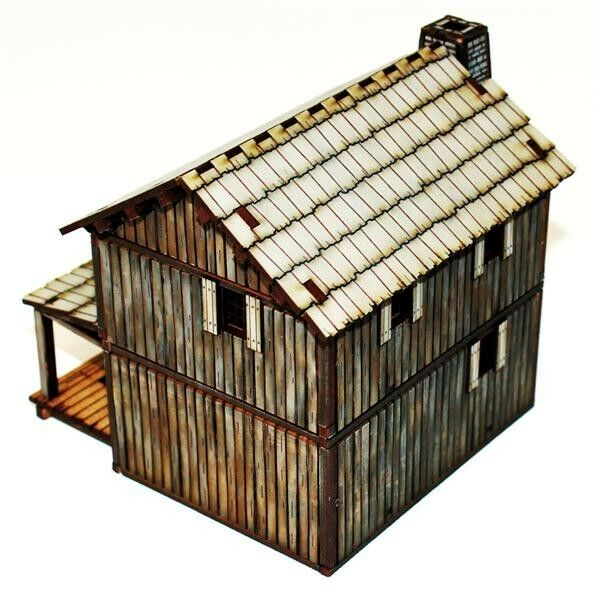 4GROUND - - - New France settler's lofted log cabin - 1 3 32in - 28S-AML-107 8325a3