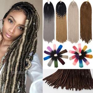 3pcs Faux Locs Crochet Braiding Hair Extension Ombre