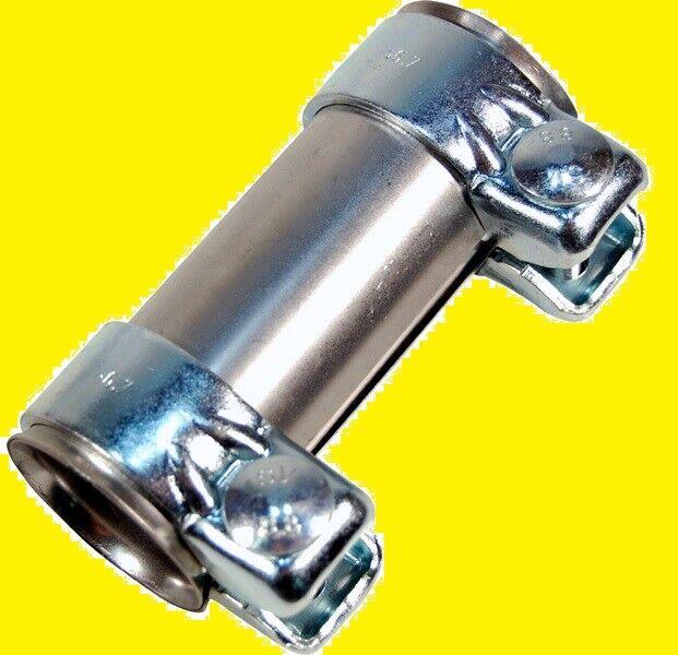 Auspuff Rohrverbinder Ø43 mm, 125mm lang verzinkt Doppelschelle NEU