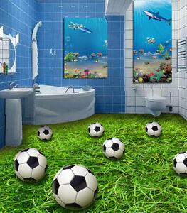 3d Football 8 Fond D'écran étage Peint En Autocollant Murale Plafond Chambre Art Marchandises De Haute Qualité