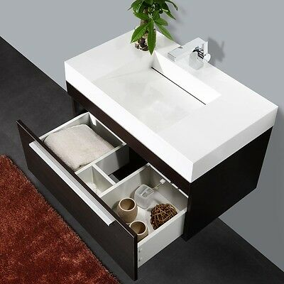 Acqua Di Moka 800 mm Wall Hung Bathroom Vanity Designer Modern Basin Blum Hinges