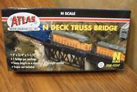 Atlas N Scale Code 80 Deck Truss Bridge Nickel Silver Rail