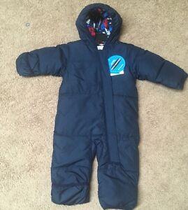 03b2e26bf NWT Columbia Infant Boys Ski Bowl Bunting Snow Suit Navy Blue Sz: 3 ...