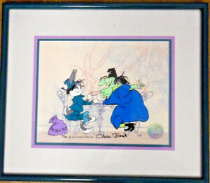 warner brothers cel bugs bunny witch hazel II rare signed chuck jones art cell