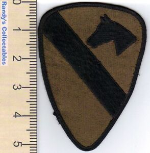Details about Authentic US Army 1st Cavalry Division BDU Subdued Sew On  Military Patch