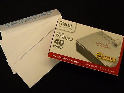 Mead No 6.75 White Envelopes 40 ct.