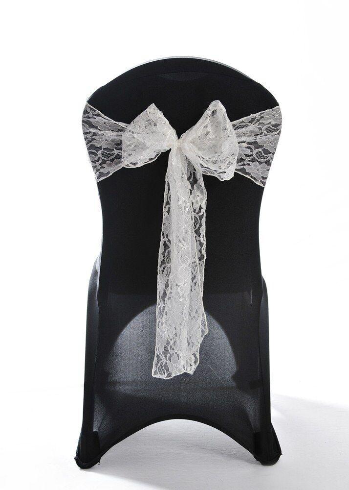 Elfenbein Spitze Hochzeit Stuhlbezug Dekoration Schärpe | Online-verkauf  | Mittel Preis  | Online Outlet Store