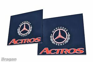 To-Fit-Mercedes-Actros-UV-Rubber-Rear-Mudguards-Mud-Flaps-Red-60x50cm-Set-of-2