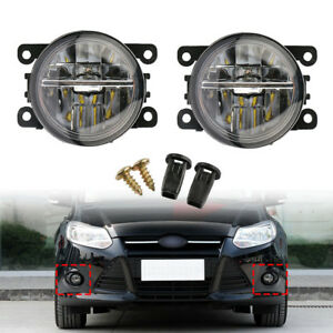 2X-Front-Fog-Lights-Lamps-DRL-For-Ford-Fiesta-MK6-MK7-Ford-C-Max-Focus