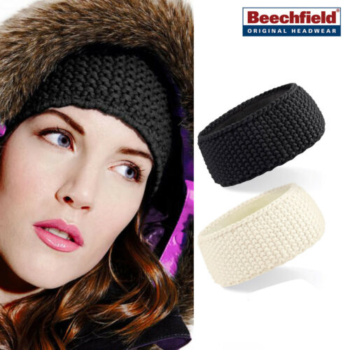 Beechfield Slopeside Waffle Headband Unisex warm winter accessory sports//casual