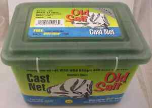 "Betts 35PM 3-1/2ft Old Salt Cast Net 3/8"" Mesh Lead Weights 12919"