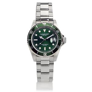AG-Spalding-amp-Bros-Orologio-da-polso-Diver-quadrante-verde-GMT-Hulk-174431U313